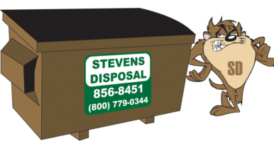 Taz with Dumpster